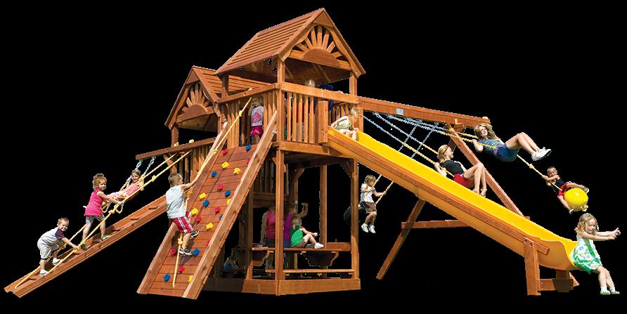 Rainbow playset king kong. Playground clipart spiral slide