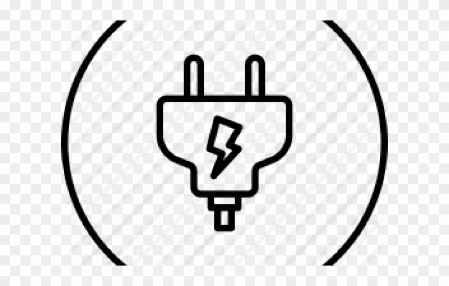 Current electricity icon png. Plug clipart power source
