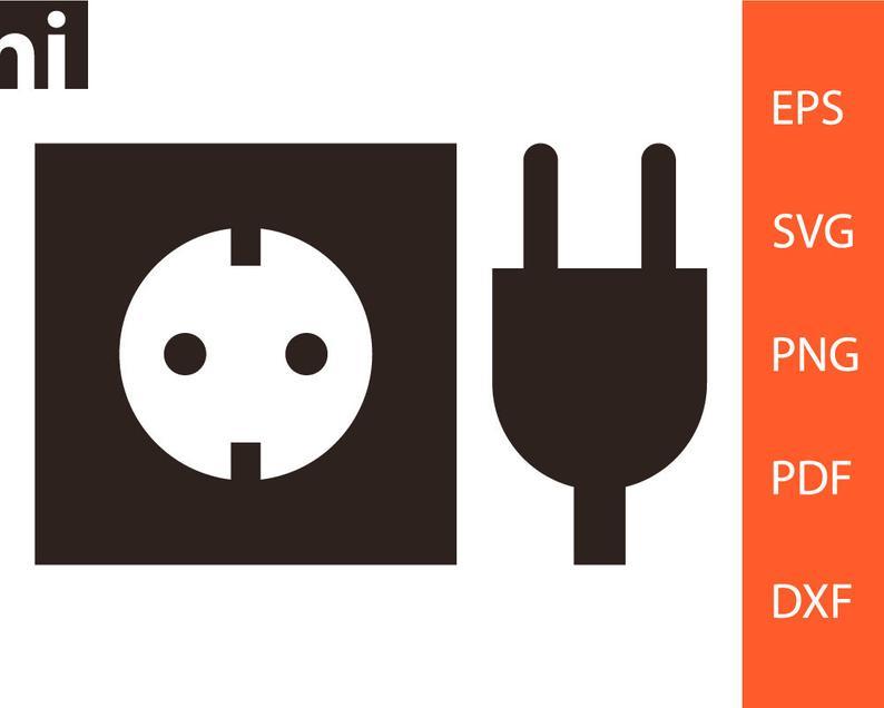 Plug clipart vector. Svg socket electricity png