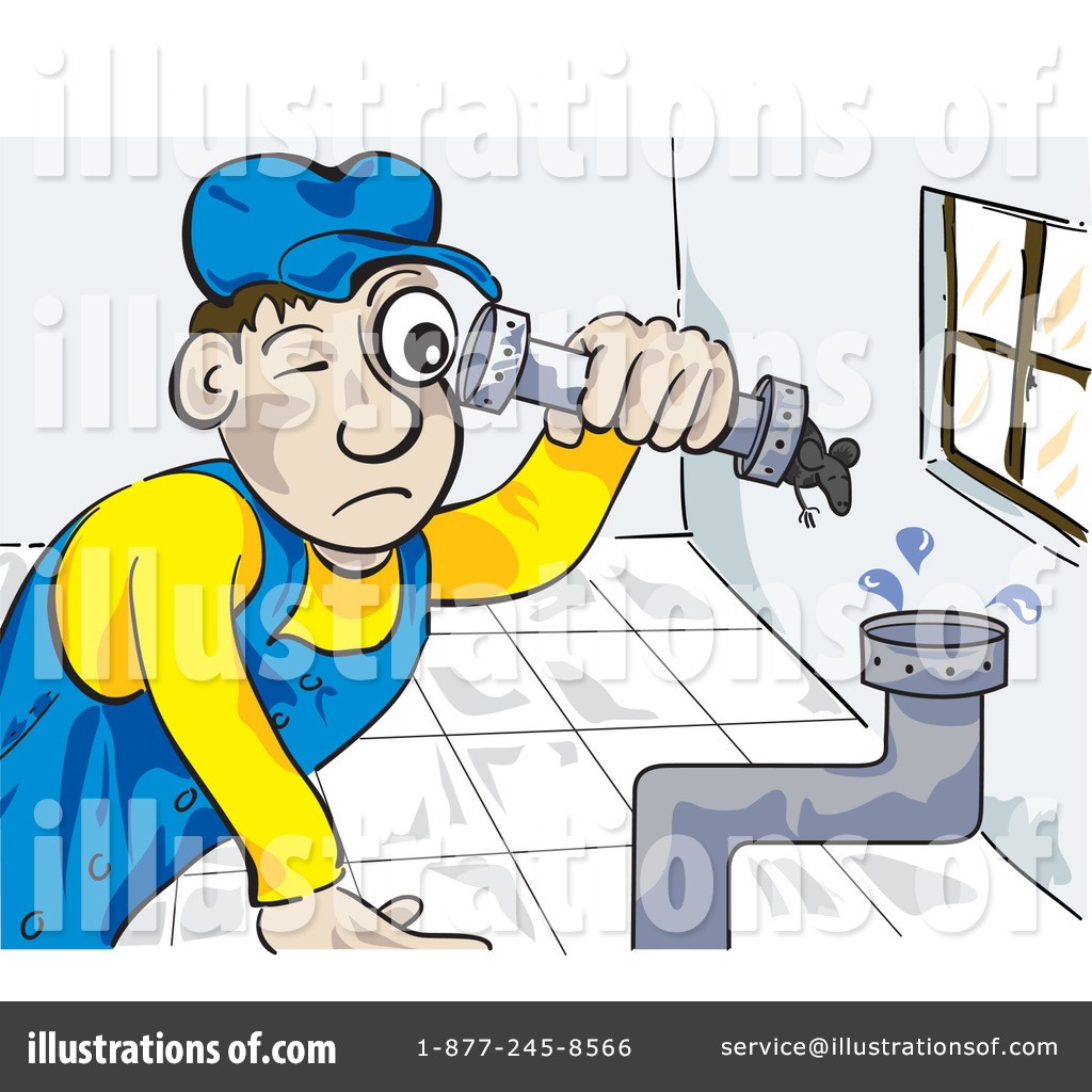 Illustration by paulo resende. Plumber clipart