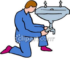 Plumber clipart. Plumbing work