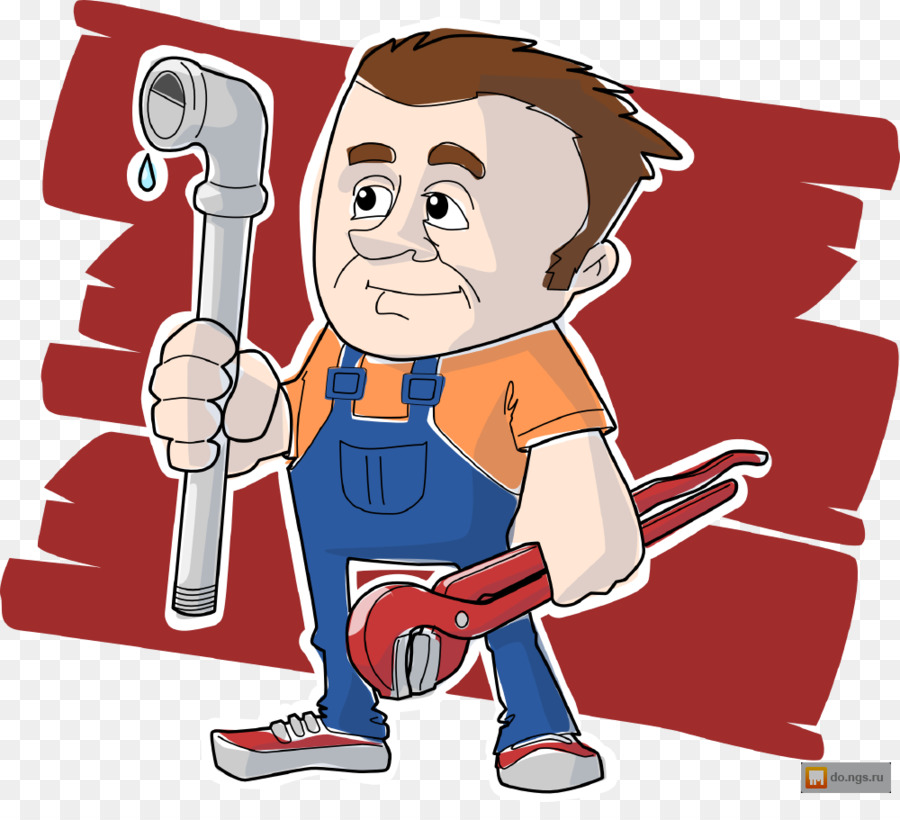 Plumbing pipe wrench clip. Plumber clipart