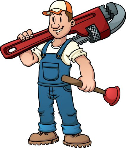 Plumber clipart. Plumbers funny pictures design