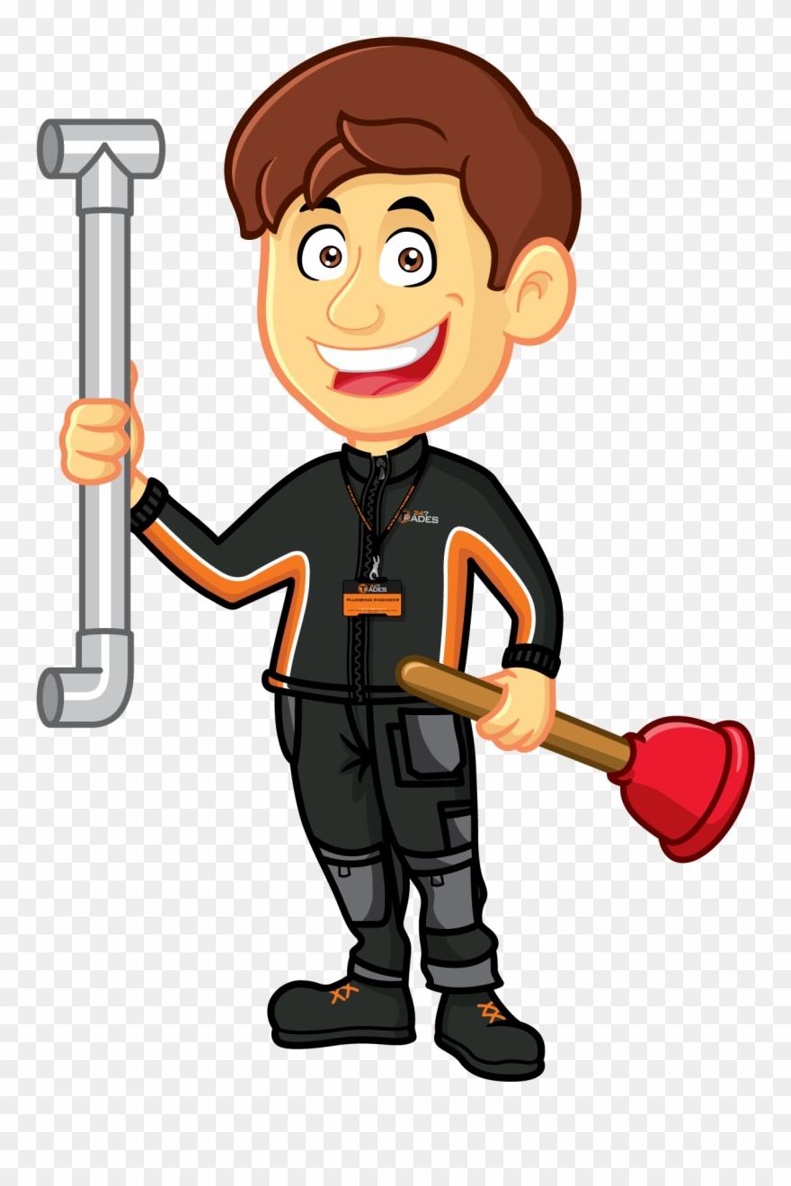 Plumber clipart installation. Clip stock plumbing cartoon