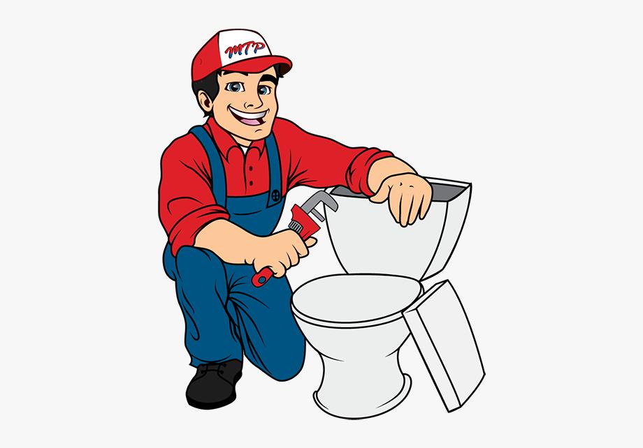 Plumber clipart plumbing repair. Servicing fixing toilet