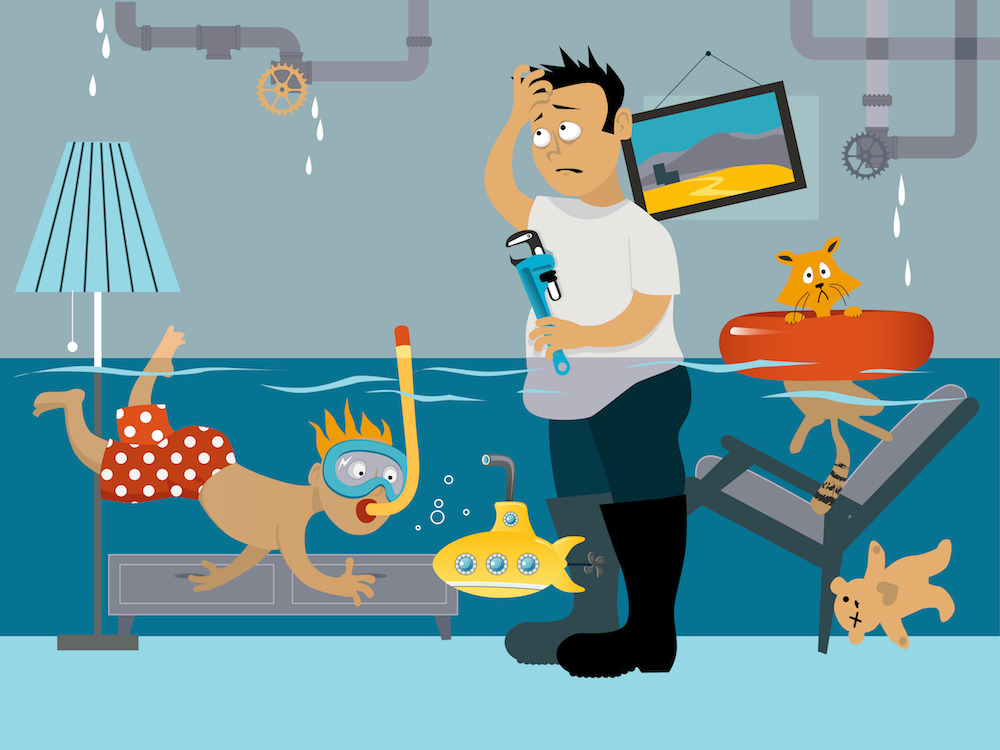 Plumber clipart water damage. Bonfe insider march minneapolis