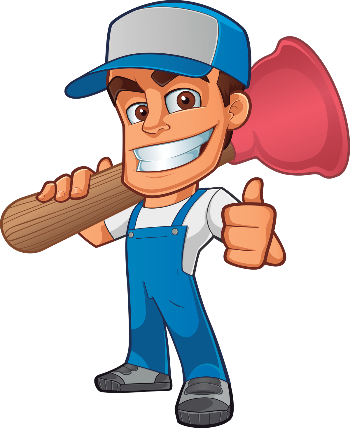 Plumbing gas services in. Plumber clipart worker