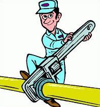 Free plumber. Plumbing clipart