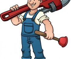 Plumbing clipart. Funny plumber design elements