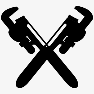 Plumber tools pipefitter steamfitters. Plumbing clipart crossed wrench