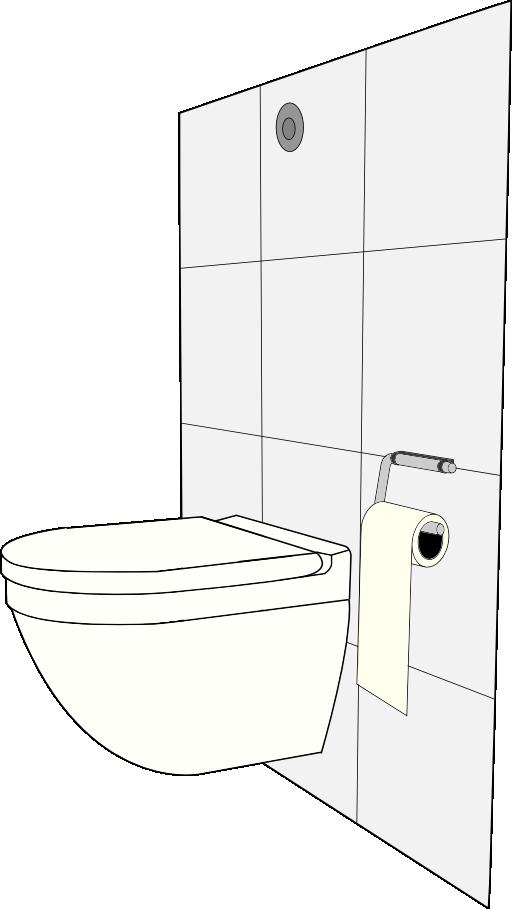 Modern toilet i public. Plumbing clipart royalty free