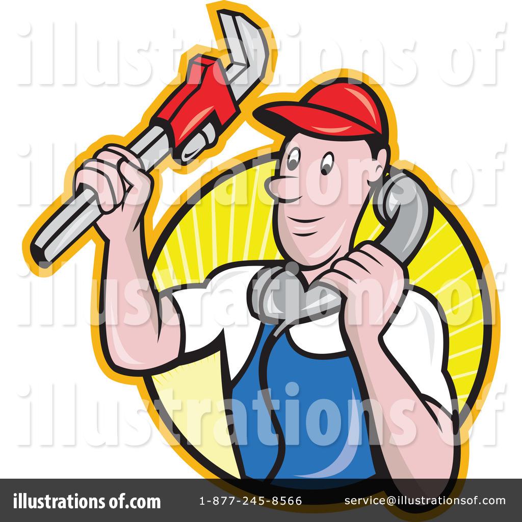 Plumbing clipart royalty free. Plumber illustration by patrimonio