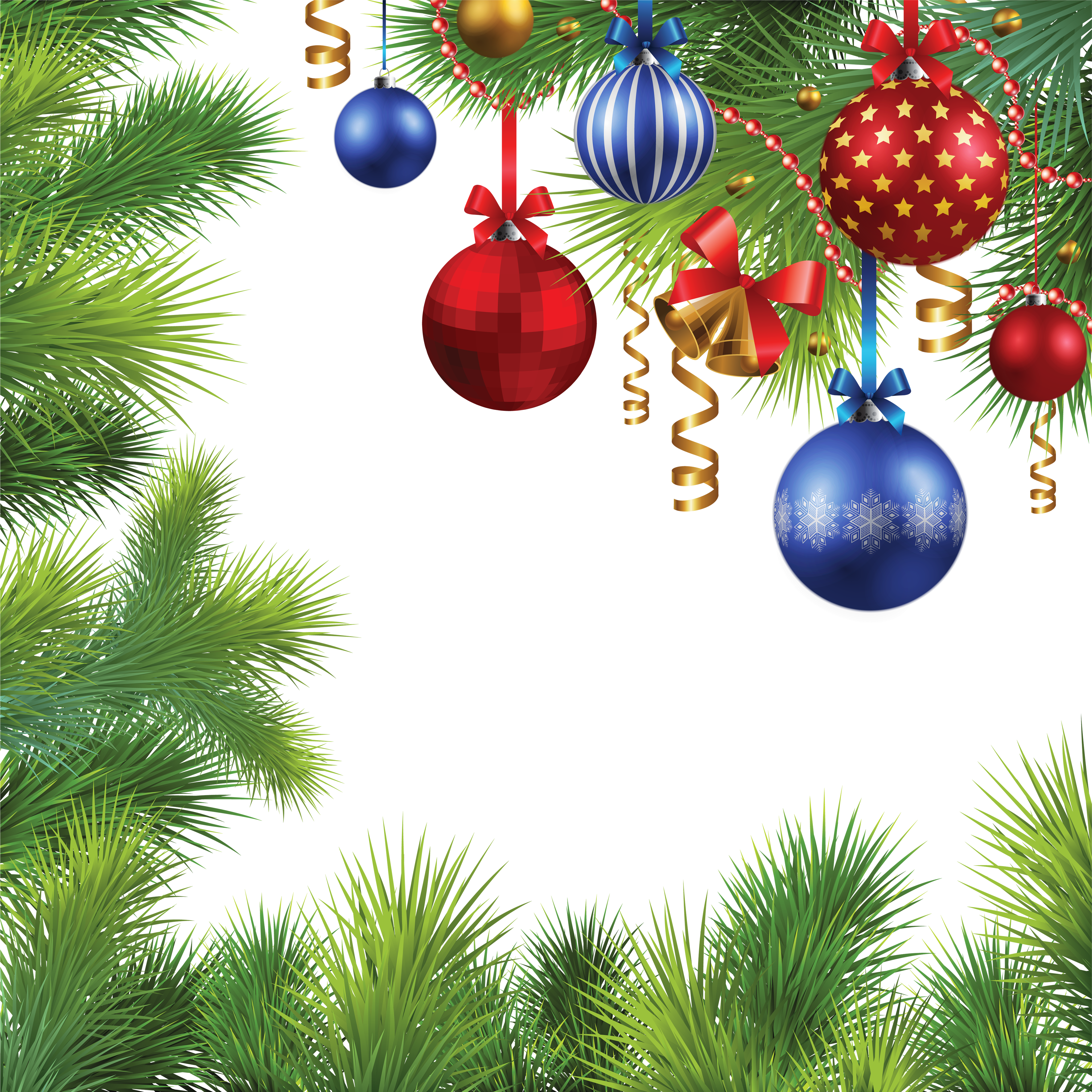 Png christmas images. Balls tree frame free