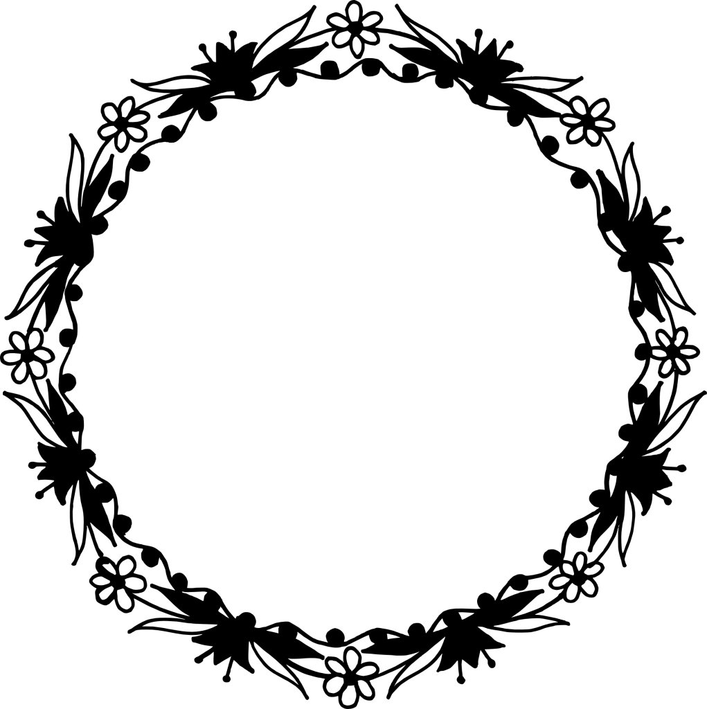 Png circle frame.  floral vector transparent
