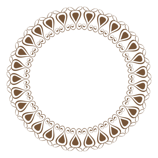 Png circle frame. With ornaments transparent svg