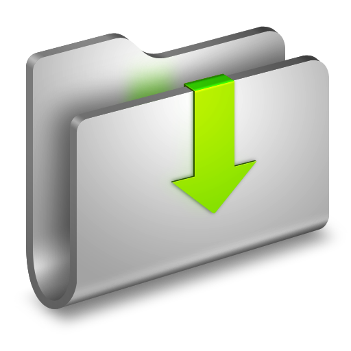 Downloads icon alumin folders. Png files download