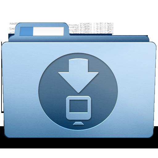 Blue downloads icon folder. Png files download