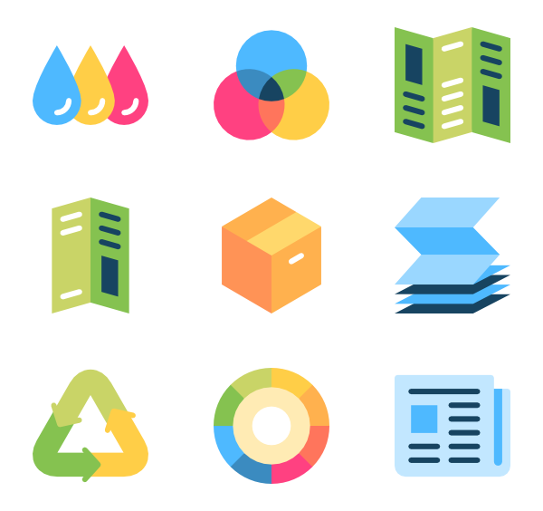 Printer icons free vector. Png files for print