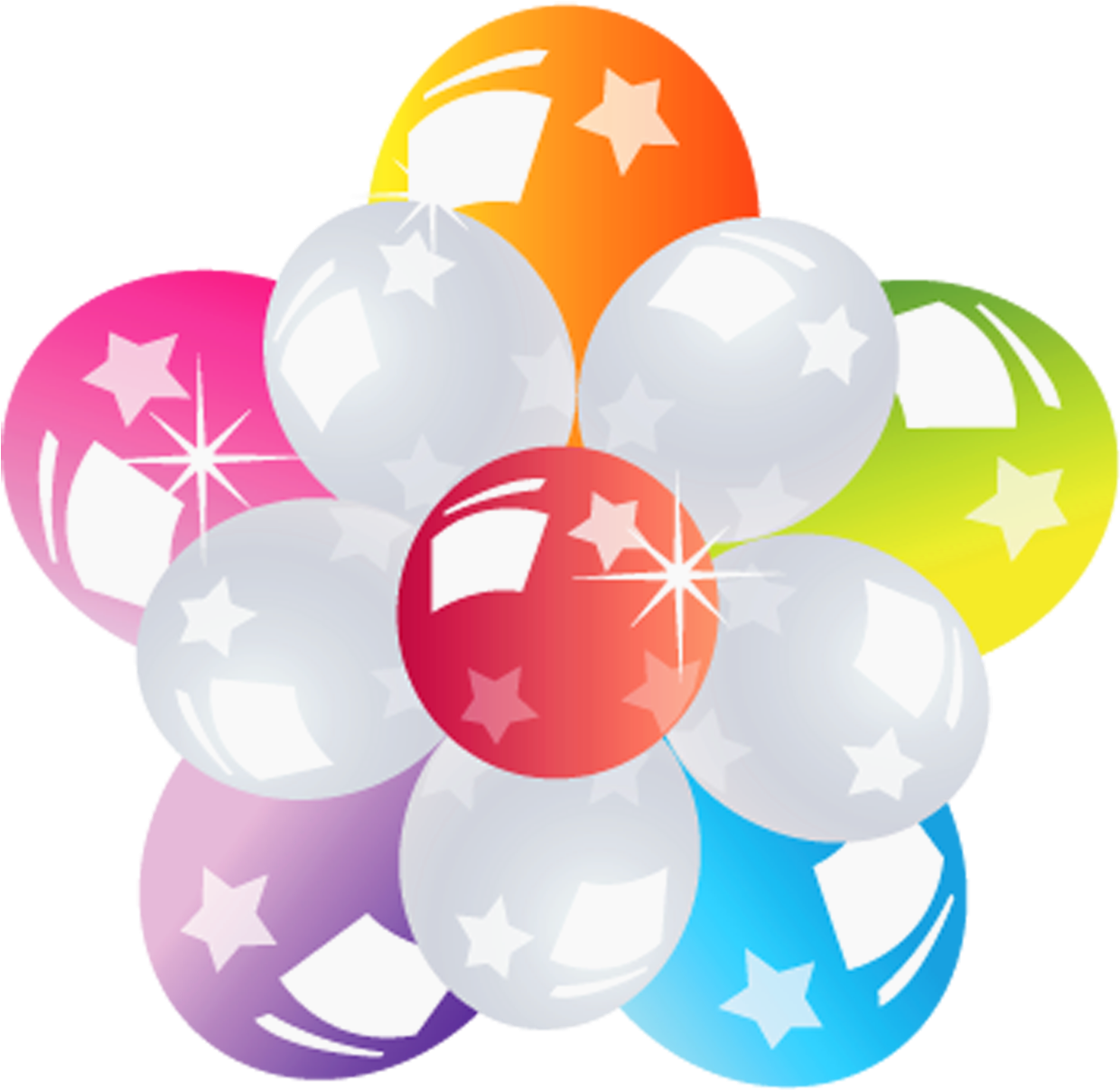 Png format images. Balloons bunch transparent picture