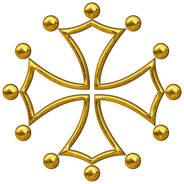 Occitan cross computer generated. Png format images