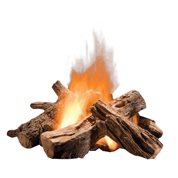 Log fire image . Png images with transparent background
