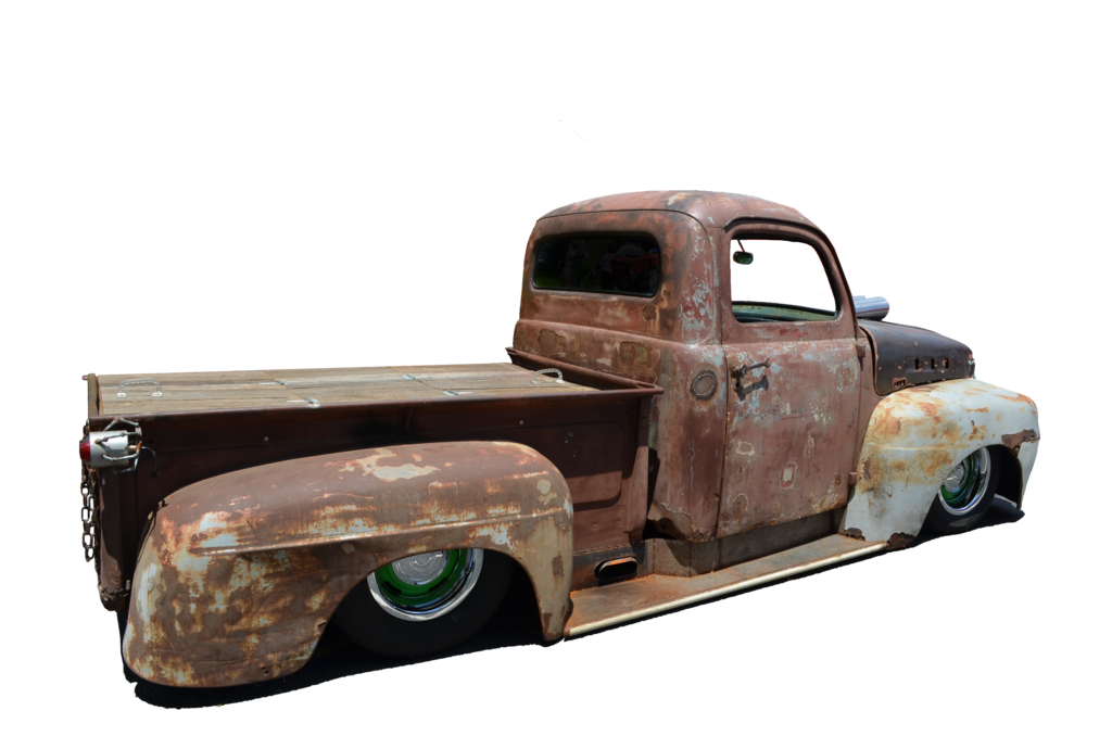 Old truck photo side. Png stock images