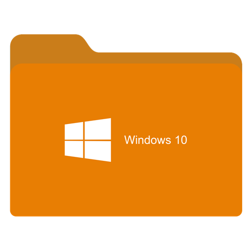 Folder ligth orange w. Png to icon windows 10