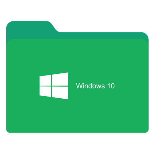 Png to icon windows 10. Folder green w x