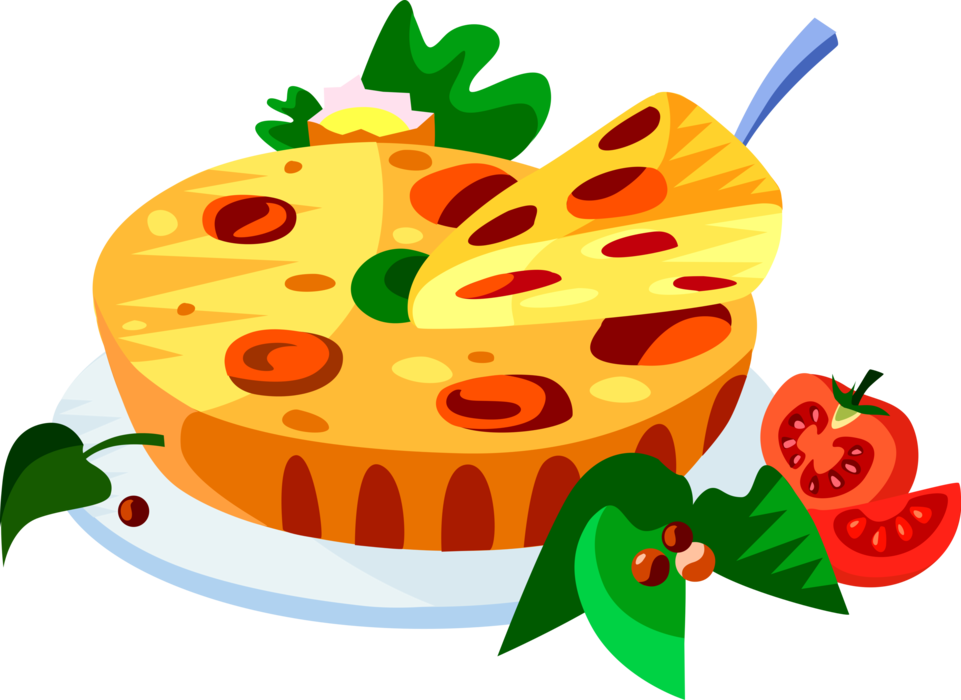 Png to vector illustrator. French cuisine quiche image