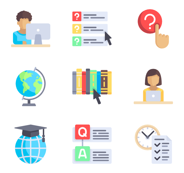 education icon packs. Png to vector online