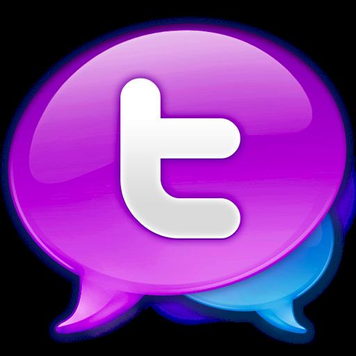 Large logo balloons iconset. Png twitter icon