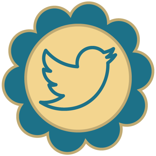 Retro social media icons. Png twitter icon