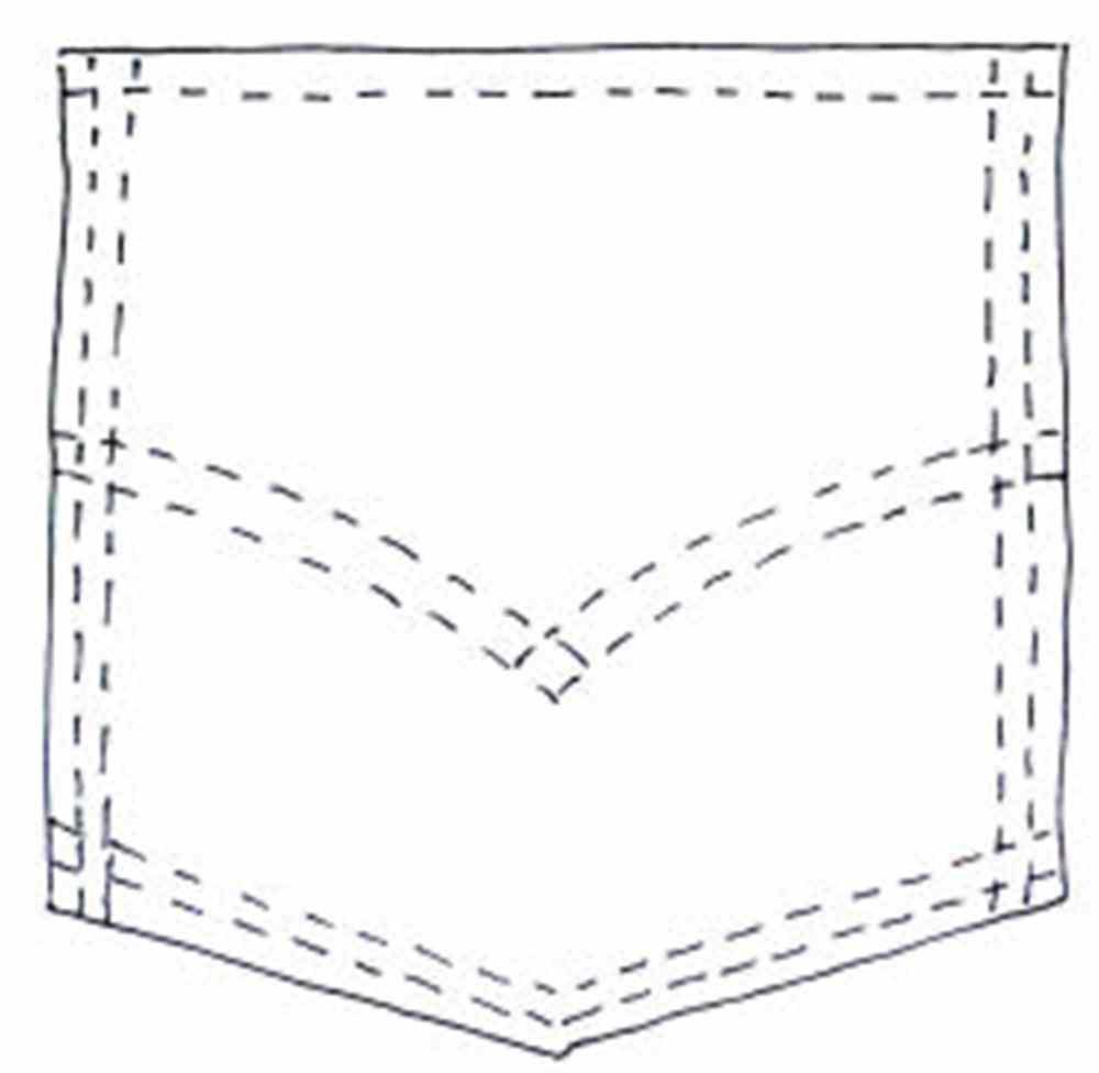 Jean . Pocket clipart