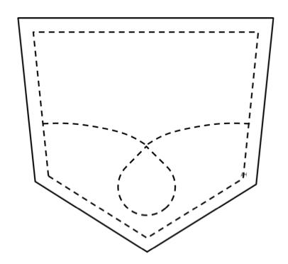 Pocket clipart. Shape