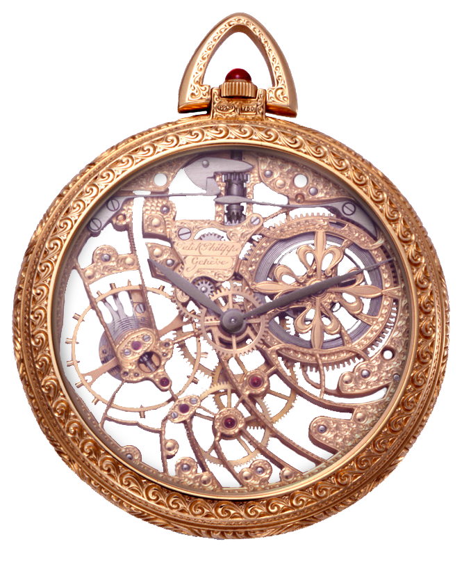 Antique vintage pocket watch. Steampunk clipart file