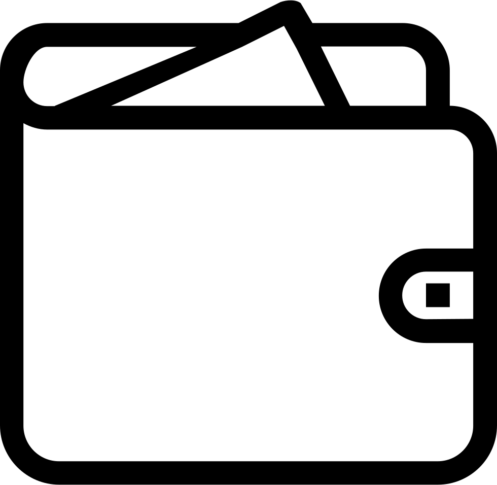 Drawing at getdrawings com. Wallet clipart outline