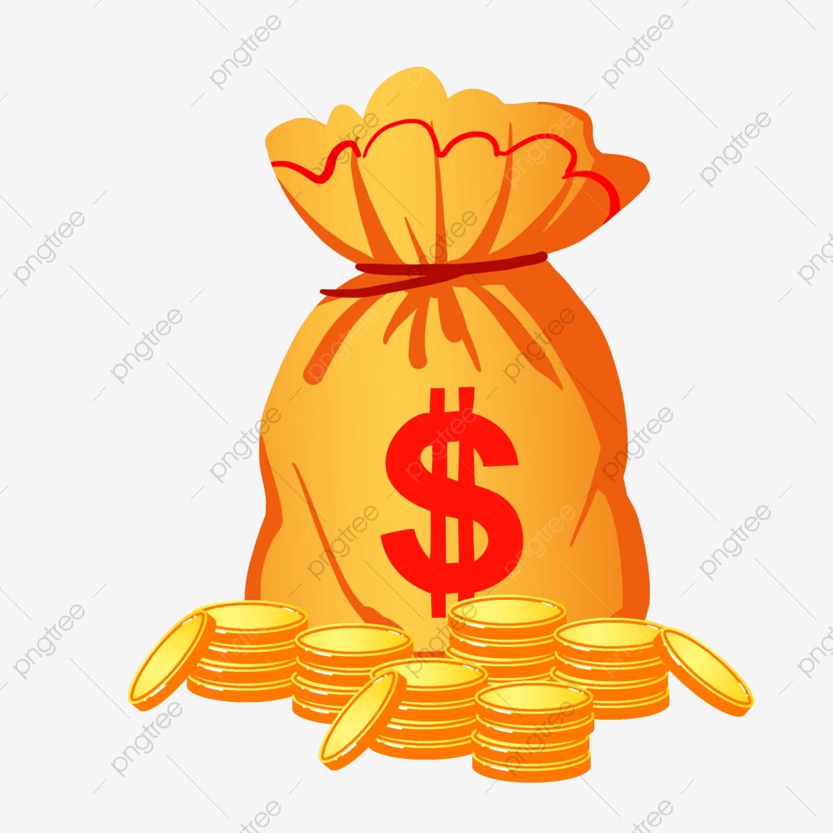 Cartoon hand money . Pocket clipart illustration