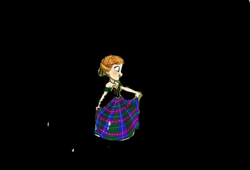 Princess clan mcarendelle anna. Pocket clipart illustration