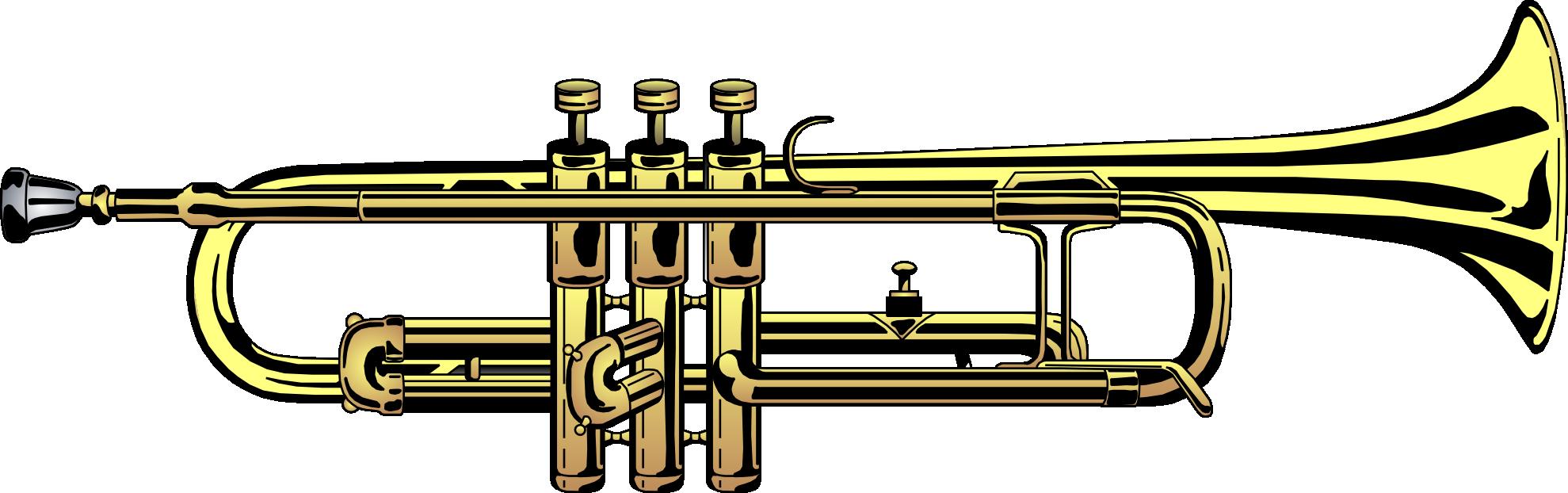 Pocket clipart vector. Trumpet silhouette clip art