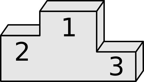 Clip art free vector. Podium clipart