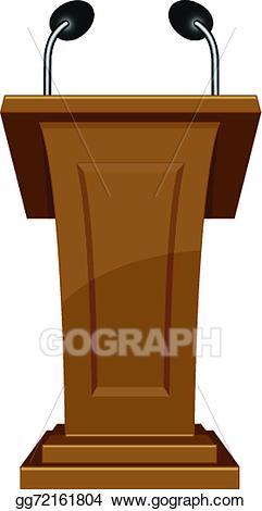 Podium clipart. Vector icon illustration gg