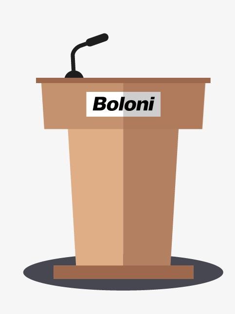Speech cartoon boloni png. Podium clipart