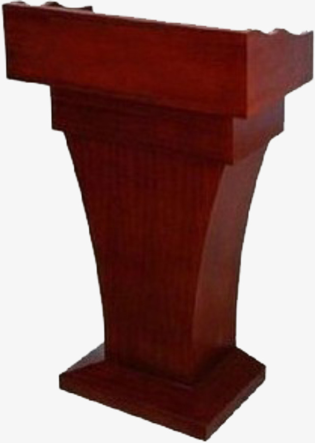 Podium clipart. Material red welcome desk