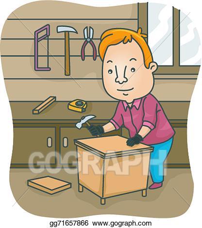 Podium clipart diy. Vector illustration furniture eps