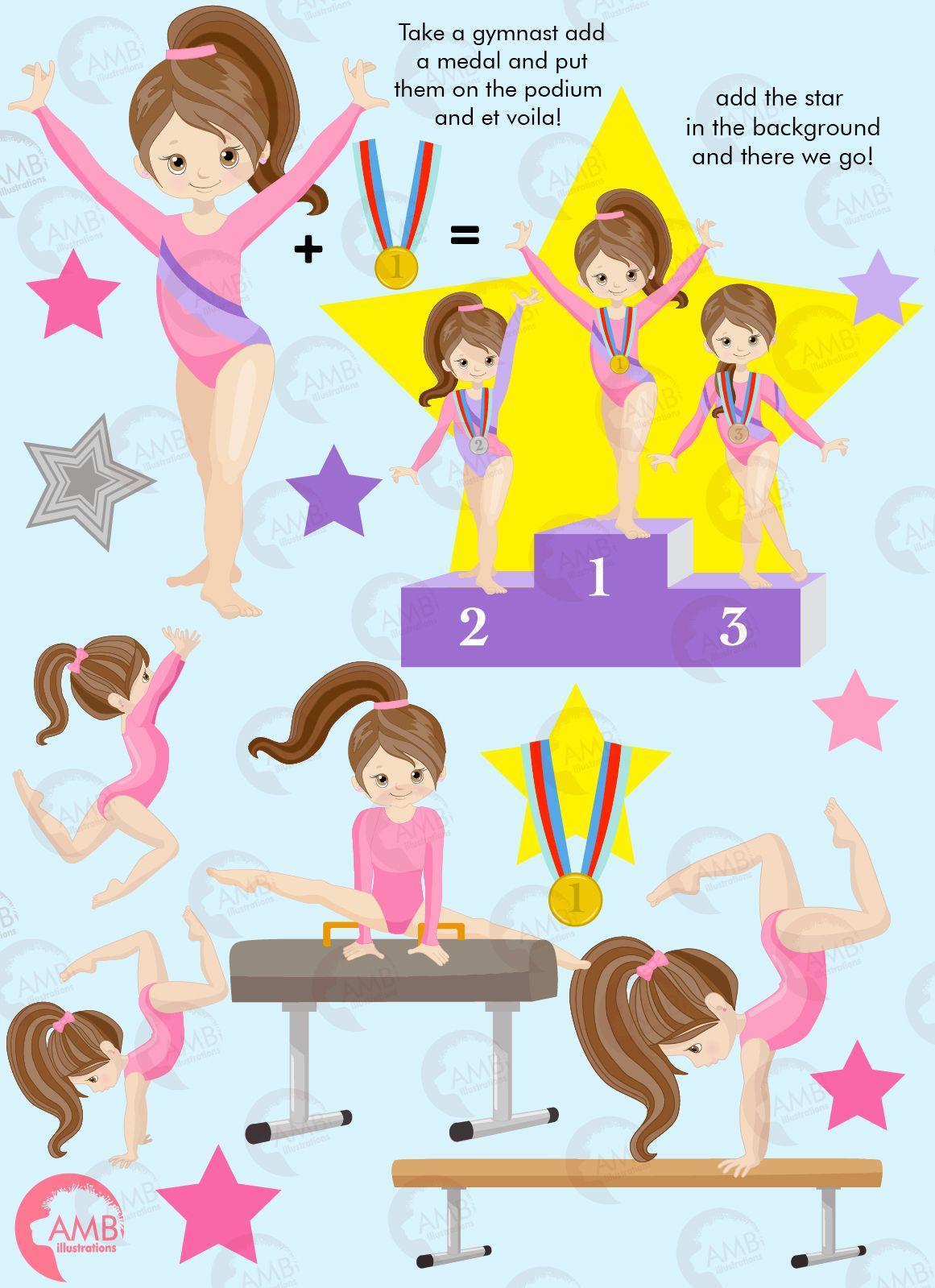 Win clipart cute. Gymnastic girls gymnast mini