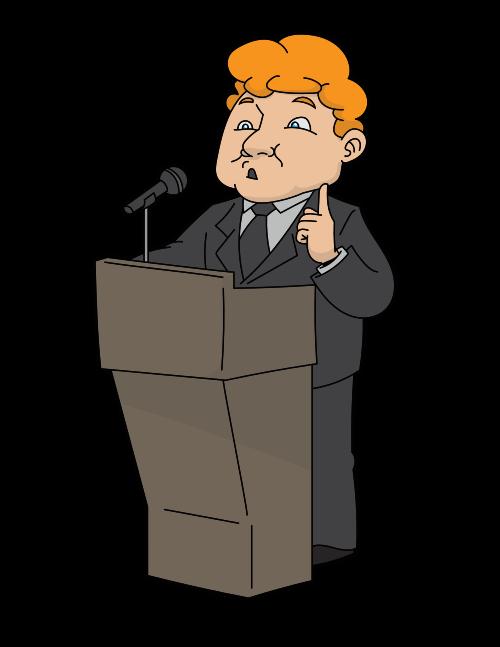 Podium clipart person. File cartoon man speaking
