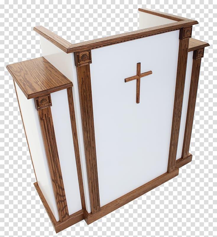 Christian church kerkmeubilair table. Podium clipart pulpit