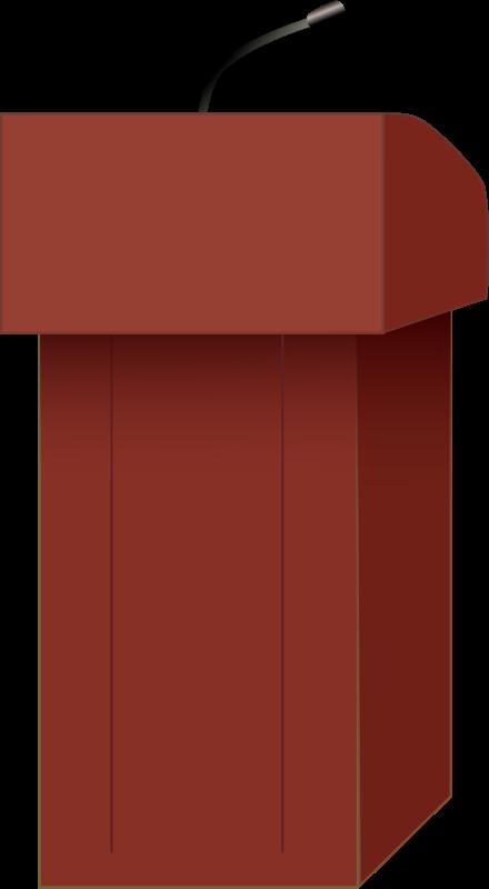 Podium clipart real. Speaker s medium image