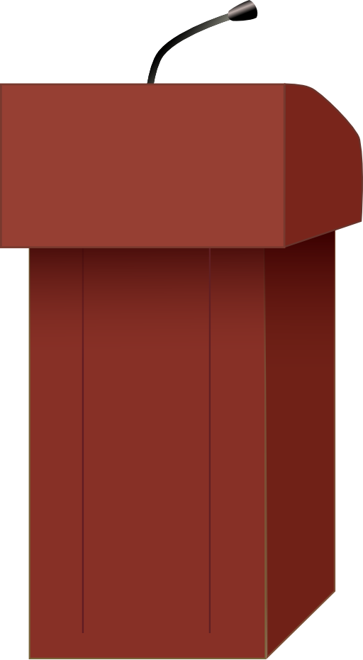 Speakers i royalty free. Podium clipart real