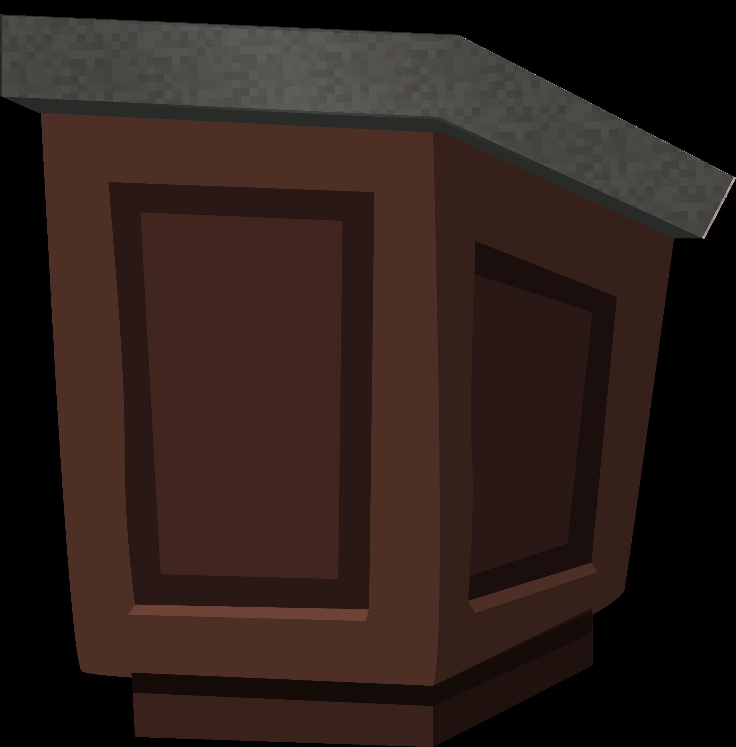 Podium clipart speech podium. Wood with granite top